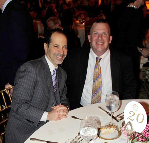 CEO of Jewish Board David Rivel with honoree and recipient of Jewish Board's Services Tom Cleary