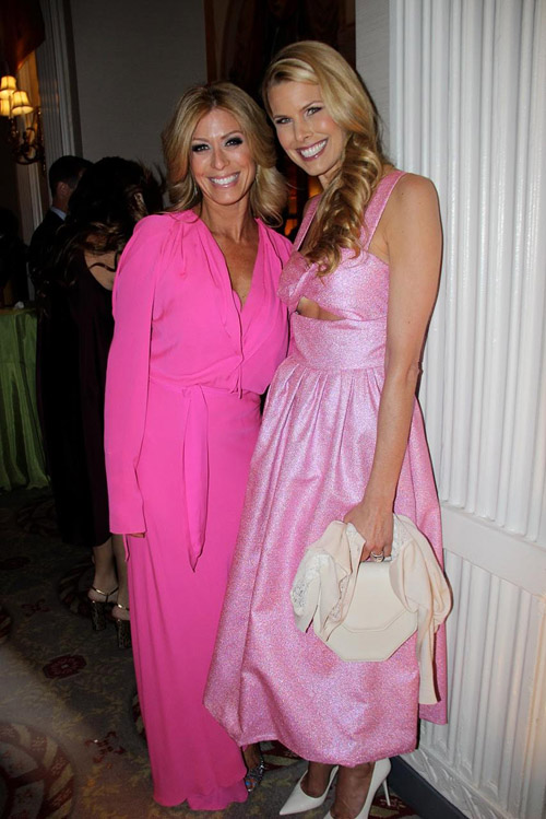 TV personality Jill Martin wearing Juan Carlos Obando and celebrity and animal activist Beth Ostrosky Stern (wife of Howard)