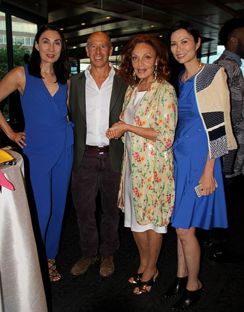 Artist Anh Duong, With CEO of Starwood Barry Sternlicht, designer Diane Von Furstenberg, and businesswoman Wendi Deng Murdoch