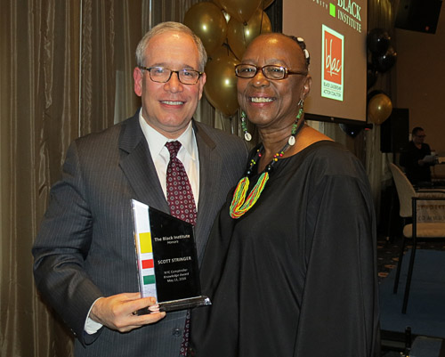 Bertha Lewis and Scott Stringer