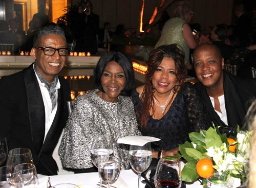 Designer:honoree B. Michael, with actress Cicely Tyson and singer Valerie Simpson, and design director of womenswear Lafayette Company Edward Wilkerson
