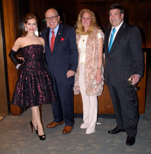 Philanthropist:Author Jean Shafiroff, Mayor Rudy Giuliani, Socialite Muffie Potter Aston and radio personality Mark Simone
